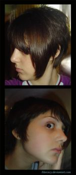 Left - New Haircut - Right by blurcecy
