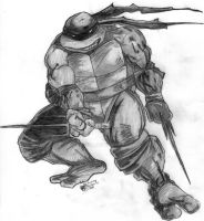Pencil Portrait Mirage Raphael by TMNT1984