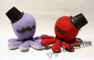 Purple and red gentleman octos by jaynedanger