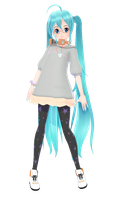 Piron Stroll style Miku [DL] by MMD-francis-co