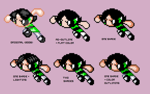 PPG Sprites: Buttercup v.2 by Cruzerchic123