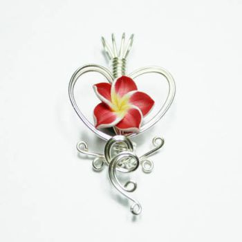 Heart Perfume Flower Pendant by Create-A-Pendant