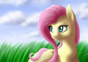 Fluttershy portrait 2014 by blueSpaceling
