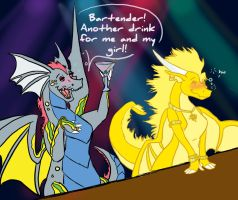 Bounce and Sunwind by DragonsFlameMagic