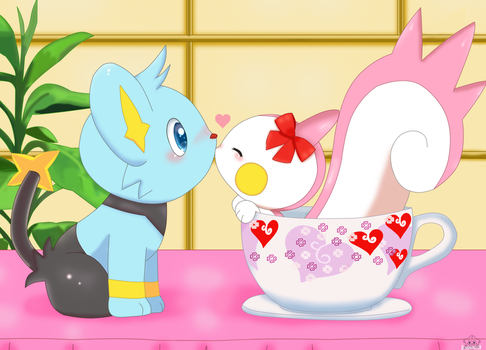 Love in the cup by jirachicute28
