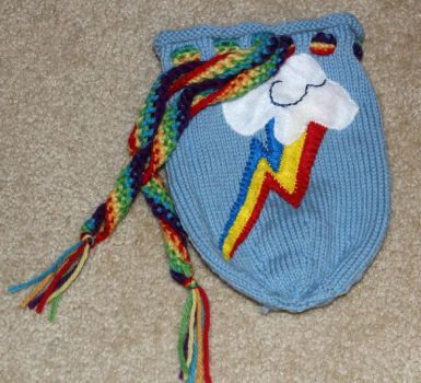 Rainbow Dash Dice Bag by SweetNerdyCakes