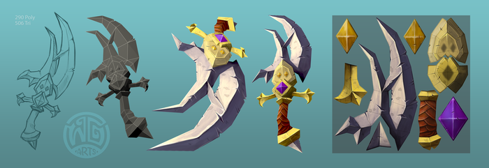 Low Poly - Rogue Blade 01 by WGArts