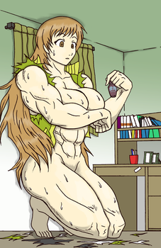 Chie's Muscle Drink by Entropy-Zeta