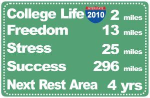 ROAD TO COLLEGE LIFE by graphiceve