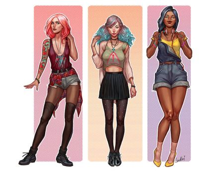 Street Girls by SineAlas