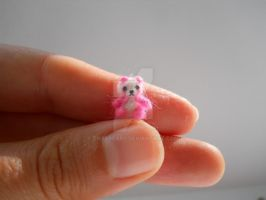 ooak extreme micro miniature jointed panda bear by tweebears