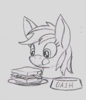 Bodiless Dash About to Eat by Airship-King