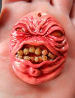 polymer clay creature pendant by dogzillalives
