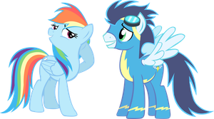 Rainbow and Soarin by TrueCelticHeart