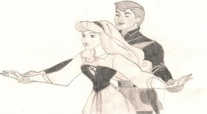 Brier rose and prince Phillip by ilovetangled