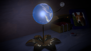 3D Earth and Moon Lamp by PyroDragoness