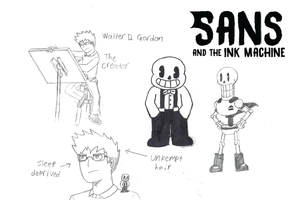 Sans and the Ink Machine by ZeoMaddox