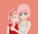 Sakura twinny by HeartlessKairi