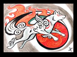 Sun Goddess Amaterasu by scificat