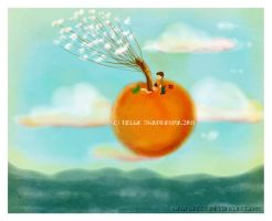 james and the giant peach by GaGaGakun