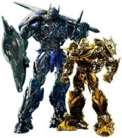 TF4 Optimus Prime and Bumblebee New Designs by TFPrime1114