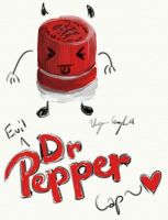 Evil Dr Pepper Cap by FallenAngelV