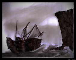 An Old Wrecked Vessel by johnfboslet2001