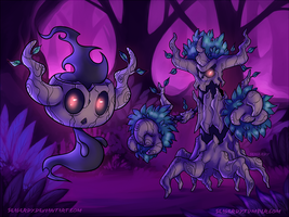 POKEMON Phantump and Trevenant by SeaGerdy