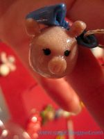 Girly Pig Charm by SugiAi
