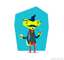 Monster Hipster by suedeheadcomic
