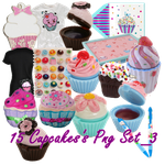 15 Cupcake's PNG Set_3 by JEricaM