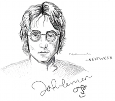 John Lennon  Sketch by Trnal