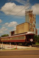 Train and Grain Mill by SublimeBudd
