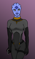 Asari with prothean markings by spaceskeleton