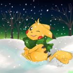 Pika Snow by FrightFox