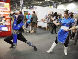 Mortal Kombat vs Street Fighter MCM May '13 by KaniKaniza