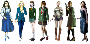 All Clock Tower Series Main Characters by ScissorBoy1995