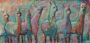 alpacas in snow by usartdude
