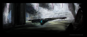 Abandoned Hangar - Speed Painting by zeedurrani