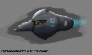 Republic Tralus Supply Ship Concept by Galen82