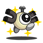 Shiny Magnemite + Waddle Doo (Kirby Series) by shawarmachine