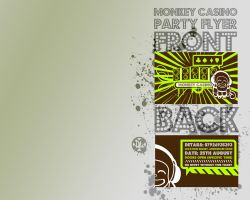 Monkey Casino Party Flyer by davelancel