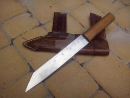 Seax with custom scabbard by IncariusCraft