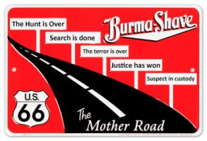 Burma-shave-schilder Boston PD quote by helpfulme
