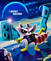 Rocket Raccoon by the-neighbor