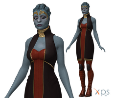 Samara Formal Dress Meshmod for XPS by Just-Jasper