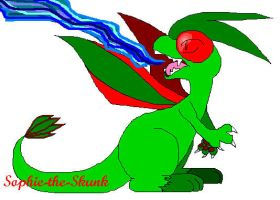 Flygon Paint Sketch by Sophie-The-Skunk