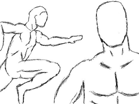 Quick Figure Sketches by mysolublefish