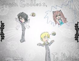From Goddess, to Ninja -Title Page for Friend- by Yellow-Phoenix