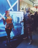 Eredin and Triss at witcher's booth PAX EAST 2015 by tarrer